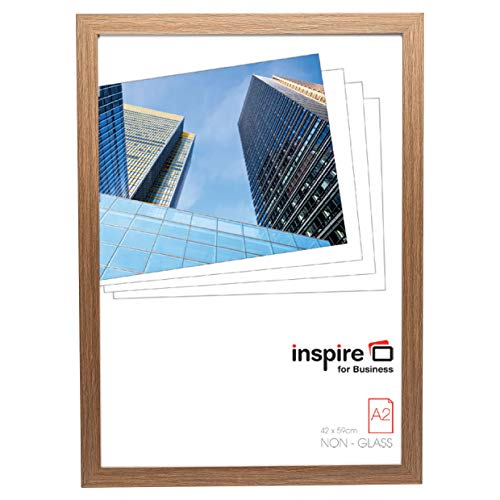 Hampton Frames SORBONNE Marco de fotos para póster/certificado/fotos de imitación madera, madera MDF, natural, A2 (42x59cm)