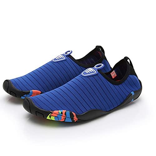 PTHTECHUS Scarpe da Immersione, Scarpe da Spiaggia Donna Uomo, Fondo Morbido Antiscivolo Rapida Asciugatura, Scarpe Barefoot Scarpe da Sport Acquatici, Scarpe da Bagno per Bambini, Surf Yoga