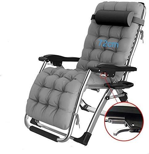 WDHWD - Sillón reclinable reclinable para exteriores, silla reclinable ajustable de aluminio, fundas de cojín, sillón reclinable, sillón Lounge, sillón individual