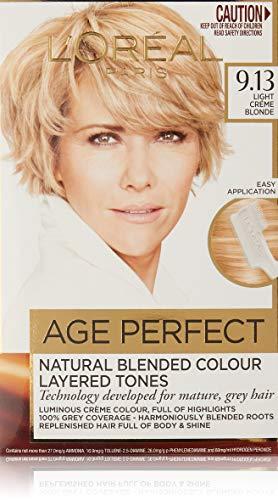 L'Oréal Paris Excellence Age Perfect Permananent Hair Colour - 9.13 Light Crème Blonde (Natural Blended Colour)