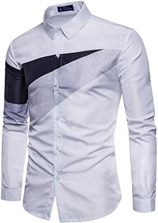 Men's Business Basic Shirt  color Block