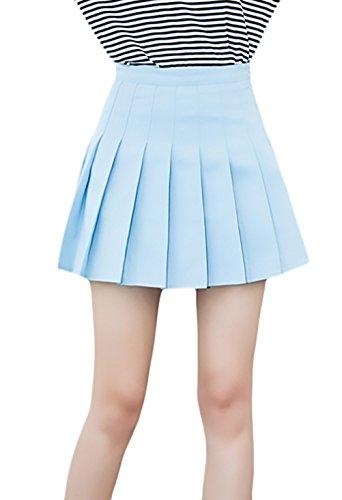 Minifalda Mujer Verano Moda Color Sólido Uniforme