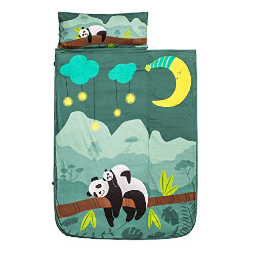 "Nap Mat for Toddler, Organic Cotton (GOTS Certified), 50×21 ""  Panda"