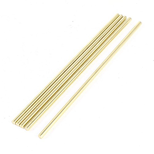 uxcell 5 Pcs Car Helicopter Model Toy DIY Brass Axles Rod Bars 3mm x 120mm