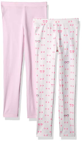 LOOK by crewcuts Mädchen-Leggings, 2er-Pack, Eye Eye Pink/ Light Pink, 8