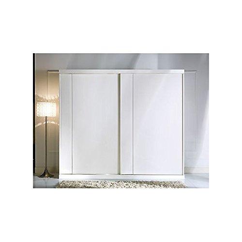 Armario 2 puertas correderas Color Blanco Como fotos Madera Maciza – como fotográfico Color blanco y marfil: Amazon.es: Hogar