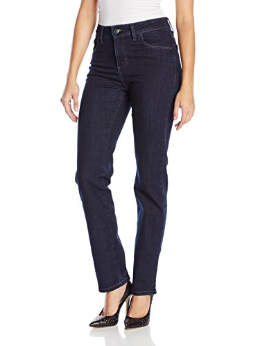 LEE Women's Instantly Slims Classic Relaxed Fit Monroe Straight Leg Jean, 14 Short, Horizon