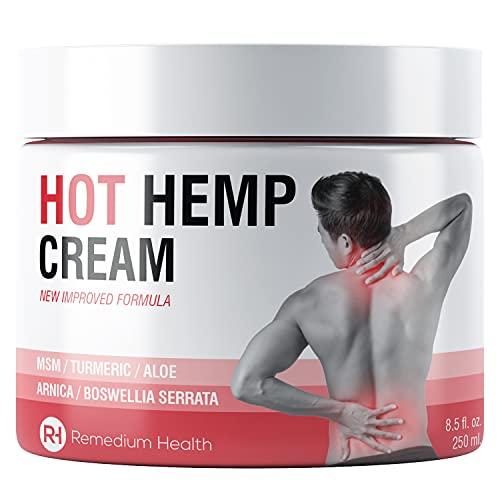 Hanf Gelenk & Muskel Aktive Beruhigendes Creme - Hanföl beruhigende Formel, Beruhigt Knie-, Schulter- und Rücken mit Arnika, MSM, Kurkuma & Aloe Vera (250ml)