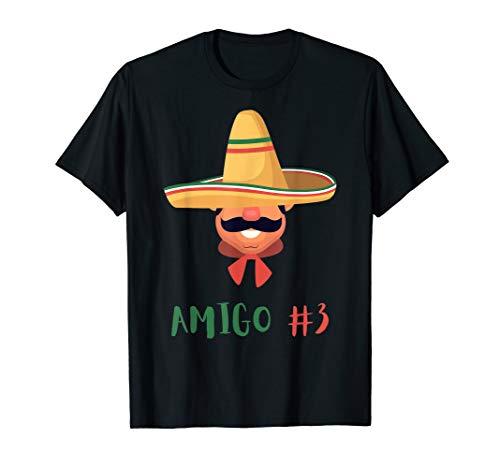 Funny Mexican Amigo #3 Group Matching DIY Halloween Costume T-Shirt
