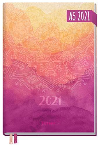 Chäff-Timer Classic A5 Kalender 2021 [Mandala] mit 1 Woche auf 2 Seiten | Terminplaner, Wochenkalender, Organizer, Terminkalender mit Wochenplaner | nachhaltig & klimaneutral