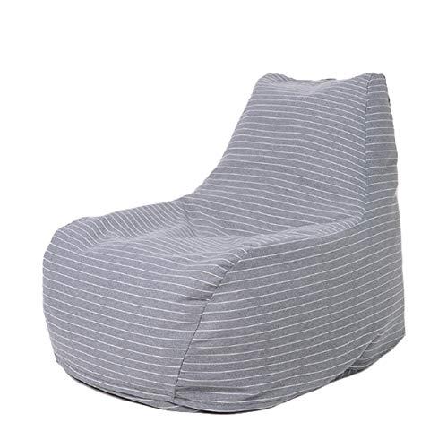 AGVER Sitzsack Sofa Stuhlbezug Abnehmbarer Bezug, Rückenlehnen-Design Trifft Auf Ergonomie, Weichheit Und Komfort Ohne Füllung,Grey White
