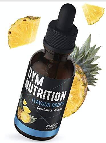 Flavour Drops Flave Drops OHNE KALORIEN mit Dosierpipette 50ml super Geschmack Für Quark, Jogurt und Mehr Made in Germany (Ananas)