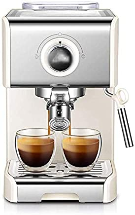LFSP Easy To Use Italian Espresso Machine Coffee Maker, Italian Commercial And Commercial Coffee Machines, Semi-automatic Steam Brew Coffee Maker, Filter Coffee Maker (Color : White)