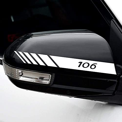 2 Piezas Coche Pegatinas Espejo Retrovisor Juego Pegatinas Estilo Pegatina, para Peugeot 106 Auto Styling