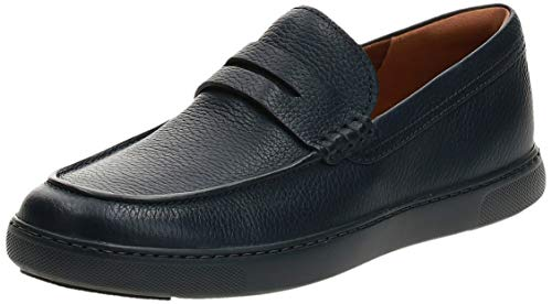 FitFlop Men's Boston Leather Loafers, Supernavy, 10 M US