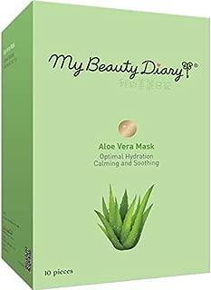 My Beauty Diary Facial Mask, Aloe 2015, 10 Count in single Box