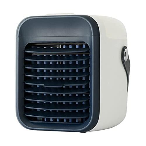 LUOWAN 2021 - Mini aire acondicionado portátil, 3 velocidades, con luz nocturna, para habitaciones, aire acondicionado portátil y aire acondicionado para interior (azul oscuro)