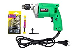 KHADIJA Powerful Simple Electric Drill Machine 10mm With Free 13Pcs HSS Drill Bits & 1Pc Masonary Bit Combo,Khadija,DM_002