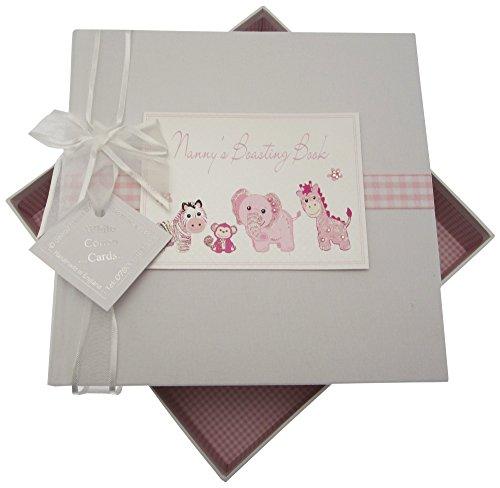 White Cotton Cards Nana S Boasting Book Medium Album Jouets (Rose)