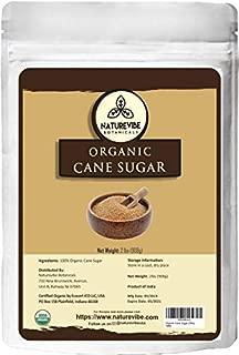Naturevibe Botanicals Organic Cane Sugar, 2lbs   Non-GMO and Gluten Free   Naturally Flavored
