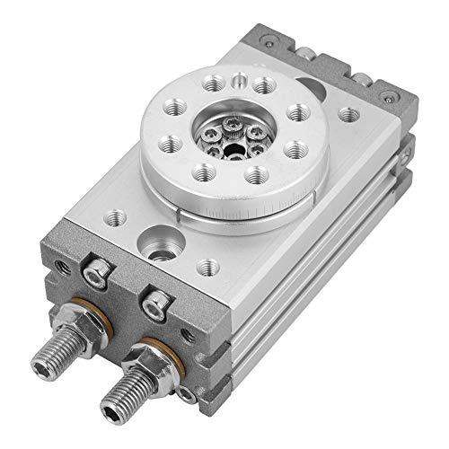 SALUTUYA Cilindro neumático Cilindro neumático de Aire Cilindro neumático Giratorio Ajuste de ángulo Interruptor magnético de 180 Grados Cilindro de dureza MSQB-10A SMC Tipo 15 mm 0~60 ° C