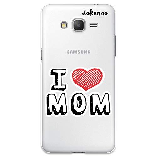 dakanna Funda para Samsung Galaxy Grand Prime | con Frase Te Quiero Mama | Carcasa de Gel Silicona Flexible | Fondo Transparente
