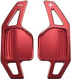 Overdrive-Racing Schaltwippen Verlängerung Kompatibel mit Audi A3 S3 RS3 A4 S4 RS4 A5 S5 Q5 A6 S6 RS6 Q7 A8 S8 R8 TT S RS Alu Rot Typ-B