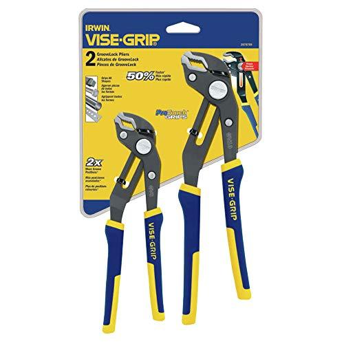 Irwin Vise-Grip 2078709 2-Piece GrooveLock Pliers (1 Set)