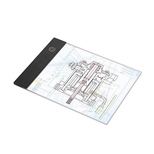 Bassette Tablet Junta Copiar la Tableta gráfica A5 LED Light Pad Digital para Escribir o Dibujar