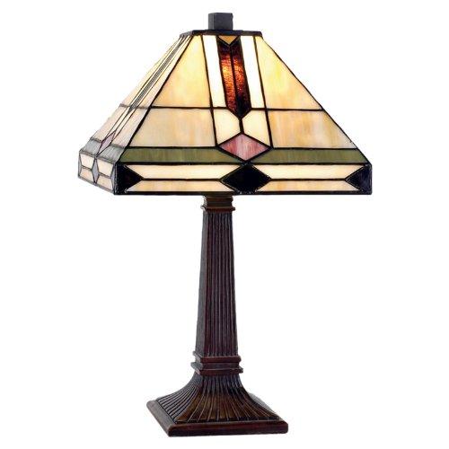 Lumilamp 5LL-8830 Lámpara de escritorio, diseño Tiffany, 40 W, multicolor