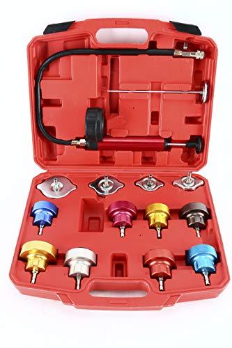 FreeTec 25 Pezzi Kit Tester Pressione Tappo radiatore Sistema di Raffreddamento