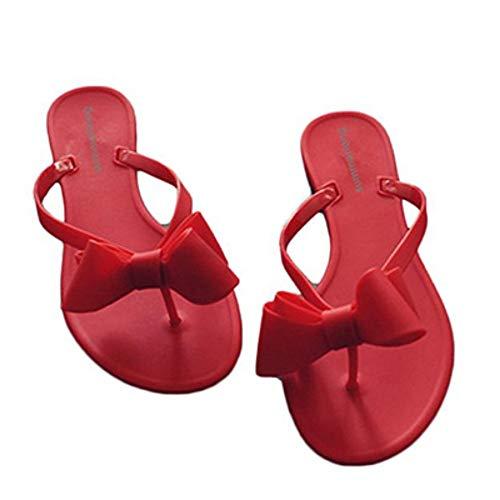 WDDNTX flip flops schoenen vrouwen sandalen flip flops slippers bowtie vlakke rubberen pantoffels strand flip flops huis buiten pantoffels nonchalante sandalen