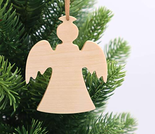 Weihnachtsdekoration aus Holz, handmade, nachhaltig, Weihnachtsengel, 1 Stück, Weihnachtsbaumschmuck, Christbaumschmuck, Holzanhänger, Fensteranhänger