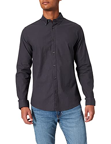 Springfield Camisa Pinpoint Stretch, Gris Oscuro, M para Hombre