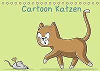 Cartoon Katzen (Tischkalender 2022 DIN A5 quer): Liebevoll gezeichnete Illustrationen von Katzen im Cartoon Style (Monatskalender, 14 Seiten )