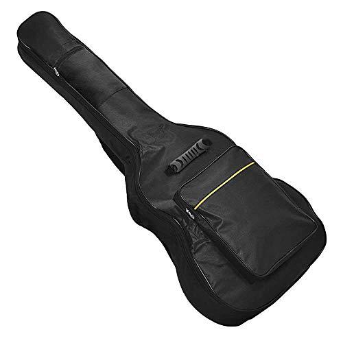 OcioDual Funda de Guitarra Clásica Universal Bolsa Acolchada con 2 Bolsillos para Guitarras Acústica 41 Pulgadas Negra
