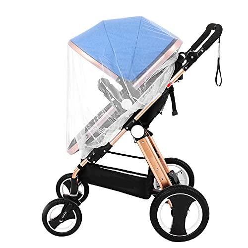 Moustiquaire de Poussette Moustiquaire Protection Anti-Insectes Universelle pour Poussette Moustiquaire Lit Parapluie pour Landau Auto-siège Lit Parapluie Protection Anti-Insectes