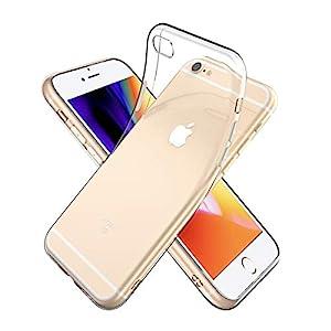 "Youriad iPhone 6S / 6 ケース カバー   透明 クリア ソフト カバー  特徴 軽量 薄型 ストラップ 滑り止め ..."""