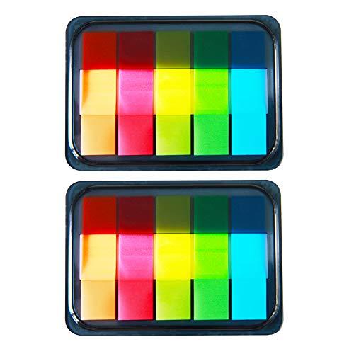 Sticky Notes Bunte Seite Marker Fluorescent Index Etikett Tabs Aufkleber Text Highlighter Streifen Beschreibbare 2box
