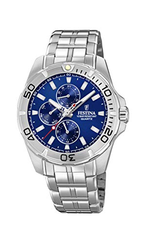 Festina Herren Multi Zifferblatt Quarz Uhr mit Edelstahl Armband F20445/2