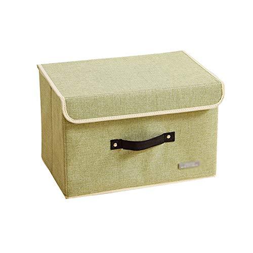 Heding Cesta De Almacenamiento, Caja De Almacenamiento Giocattolo Ropa Mango De Se Puede Doblar Gran Capacidad Lavable Armario Tela Oxford (Color : Beige, Size : 38x25x26cm)