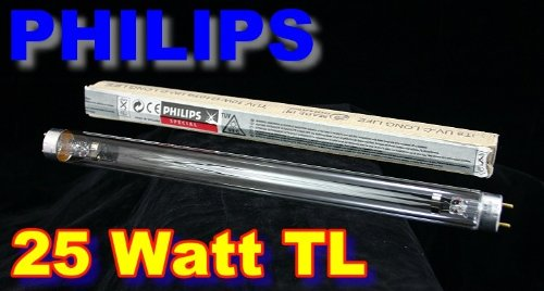 Philips 25 Watt TUV TL T8 UV-C Long Life Erstzlampe Länge: 451,6mm Version 2013