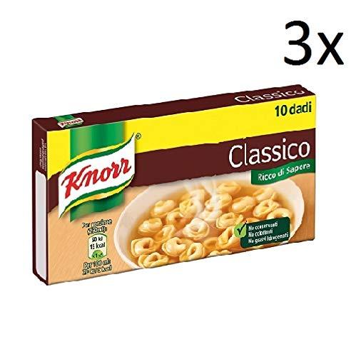 3x Knorr classico dado brodo Suppenwürfel Brühe klassisch reich an Geschmack