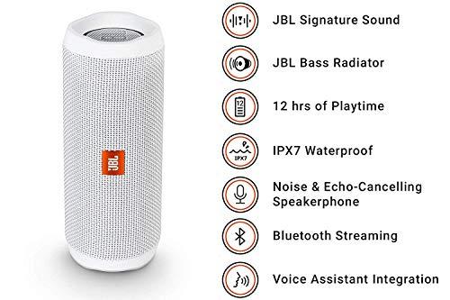JBL FLIP 4 - Waterproof Portable Bluetooth Speaker - White