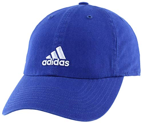 adidas Women's Saturday Relaxed Adjustable Cap, Mystery Ink Blue/Prism Blue, ONE SIZE