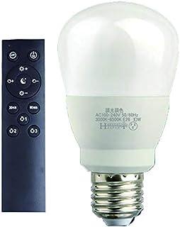 調光調色 LED電球 リモコン付き E26 60W ledライト 電球色 昼光色 タイマー付き 常夜灯 明るさメモリ機能 リモコン+電球1個 PSE認証あり 2年保証