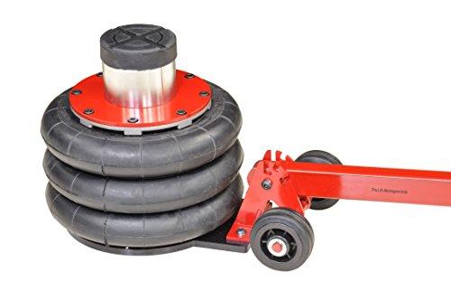Pro-Lift-Montagetechnik 2t Wagenheber pneumatisch, 3 Luftkissen, 200mm-560mm mit Rangierstange, T1813, 01698