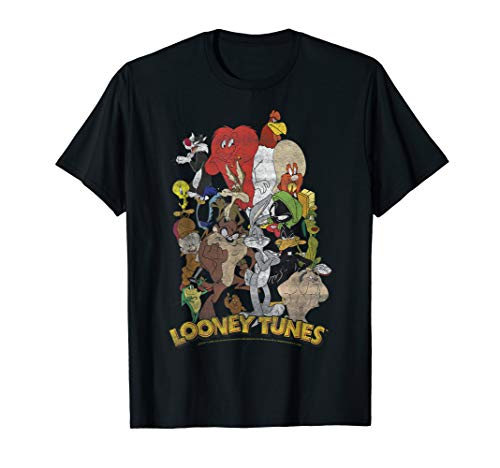 Looney Tunes Character Stack Group Shot T-Shirt