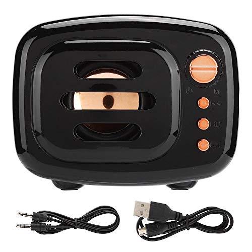 Speakers, HiFi sound quality Support memory card mini bluetooth speaker, noise reduction for desktop laptop for(black)