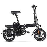 Bicicleta eléctrica Plegable Bicicleta eléctrica asistida de 400 W con batería de Litio extraíble de 48 V 25 A y Amortiguador, para Adultos y Adolescentes Viaje a la Ciudad